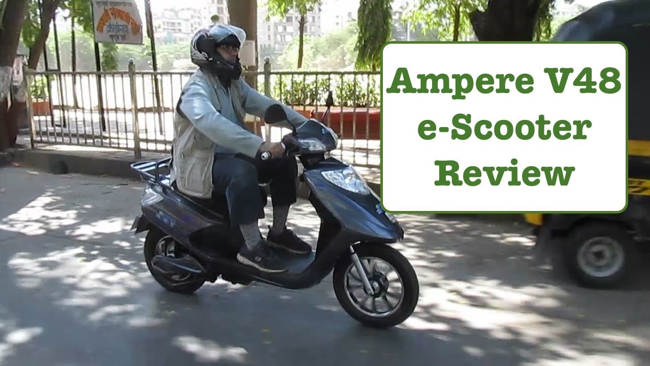 Ampere V48 Electric Scooter Review Youtube