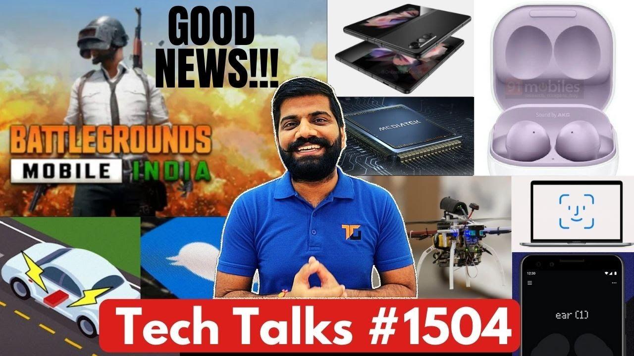Tech Talks #1504 - BGMI Surprise, Galaxy Unpacked Updates, MacBook FaceID, Dimensity 1300T, A80
