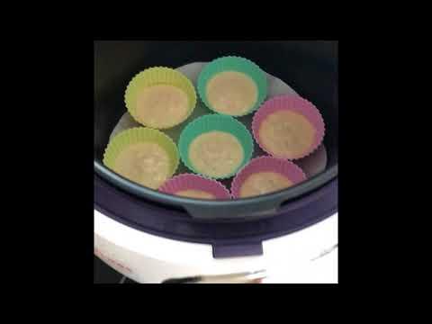 Кексы в формочках в мультиварке