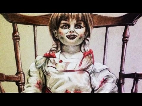 Realistic speed drawing of haunted doll 'Annabelle'
