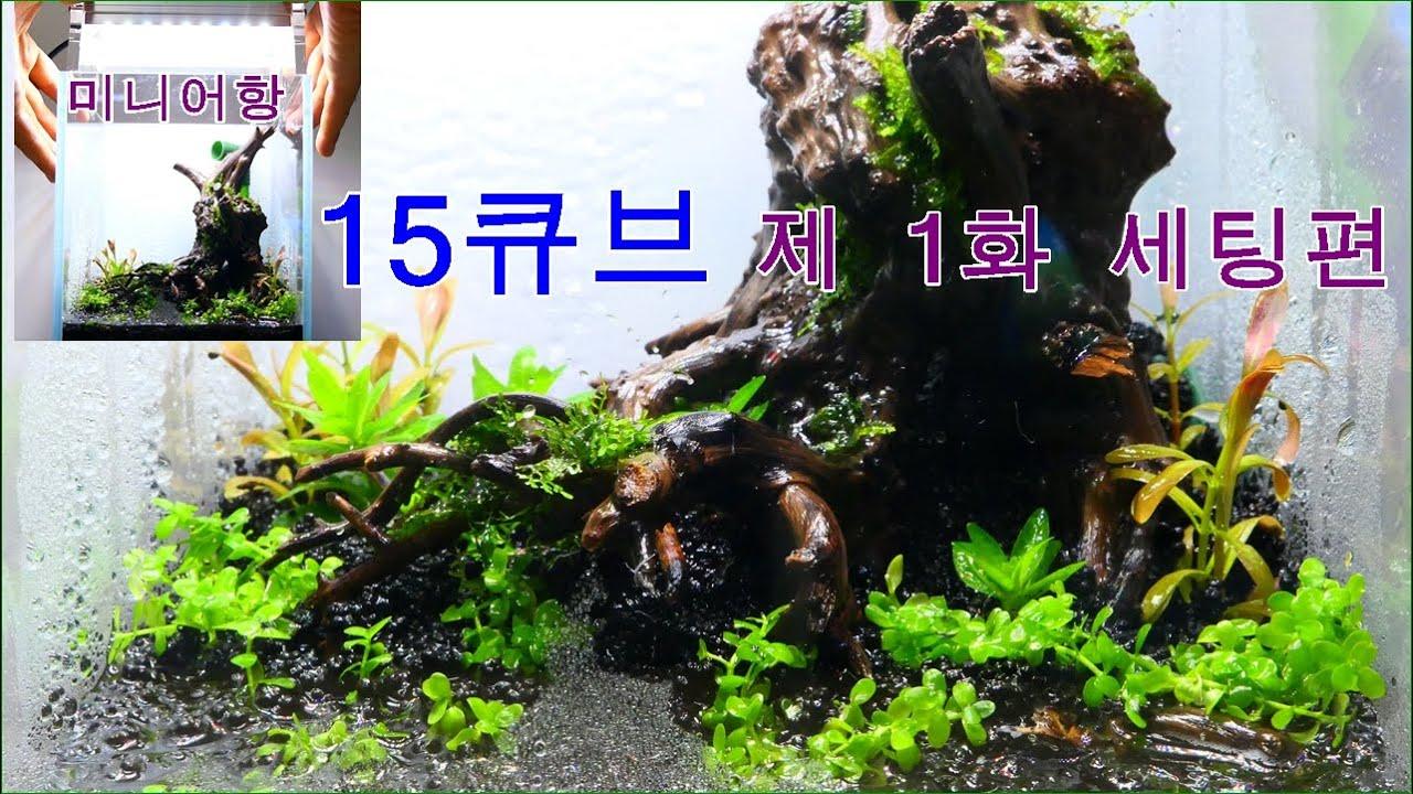 책상위에 초미니 어항 15큐브-제 1화 세팅편^^