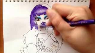 Как рисовать монстр хай Элизабет.(через YouTube Объектив., 2014-04-01T13:23:17.000Z)