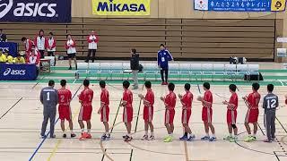 2019高校選抜男子準決勝 香川中央VS不来方 選手紹介 エンジン!!