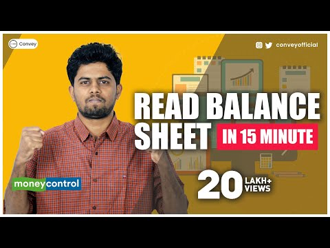 How to read Balance Sheet on Moneycontrol?