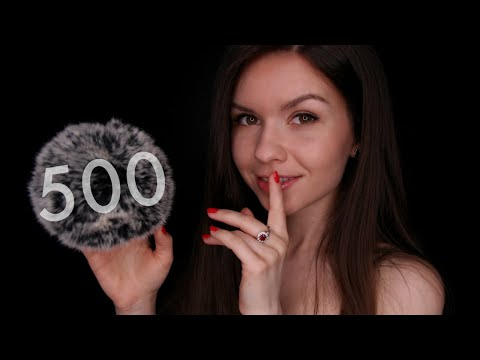 ASMR • FLUFFY MIC 🌙 Countdown For Sleep (from 500)