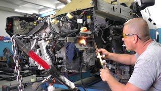 Jeep Renegade. Ремонт сломанного лонжерона методом нагрева. РЕЗАК РУЛИТ