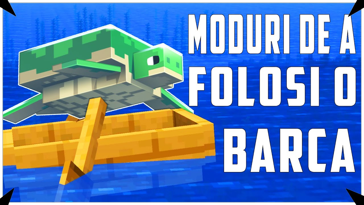 Lucruri pe care nu le stiai despre Barci - Minecraft Tutorial Romania