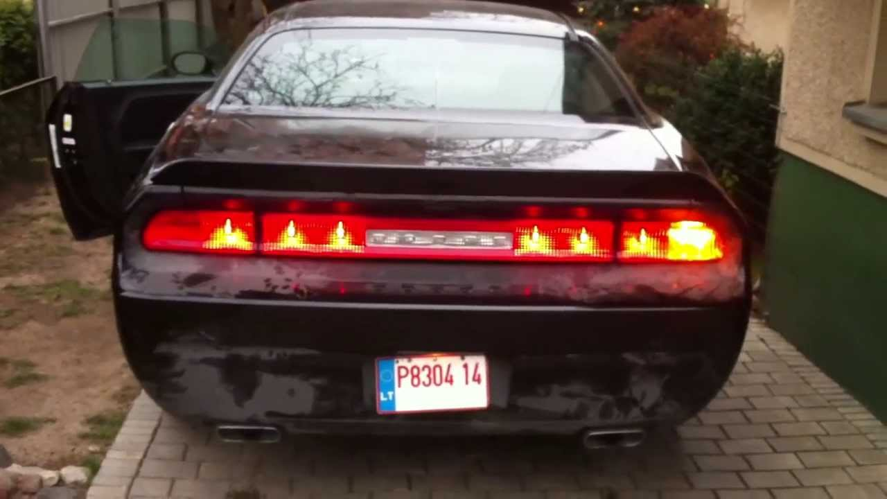 Dodge Challenger Conversion >> Dodge Challenger tail lights conversion to EU from USA - YouTube