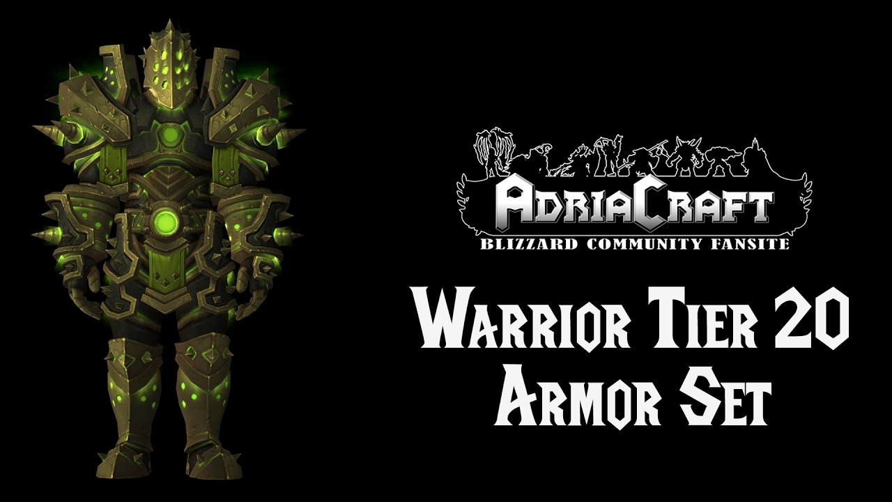 Warrior Tier 20 Armor Set - YouTube