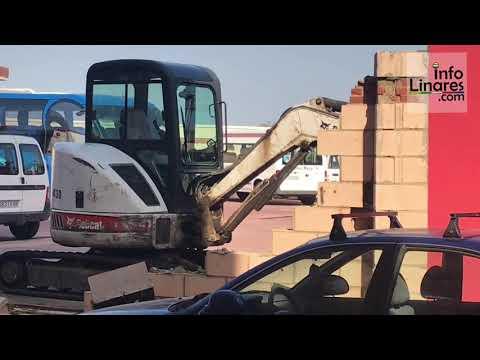 Info Linares   Caida Muro de bomberos   Septiembre 2019