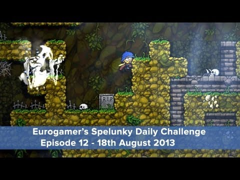 Spelunky Daily Challenge: Episode 12 - Shotguns! Ghosts! Basic maths!