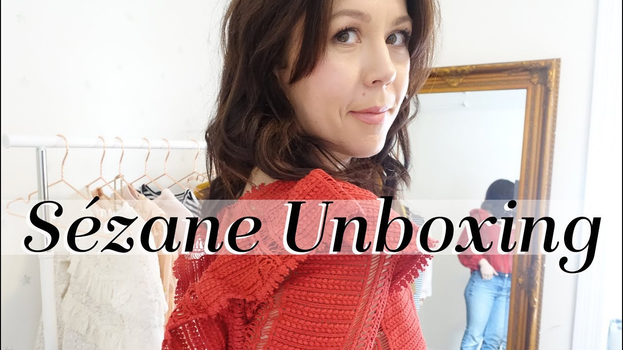 cc344d0f526b12 SEZANE Unboxing and Try On! Line Blouse, Izaac shirt, Mathilde dress ...