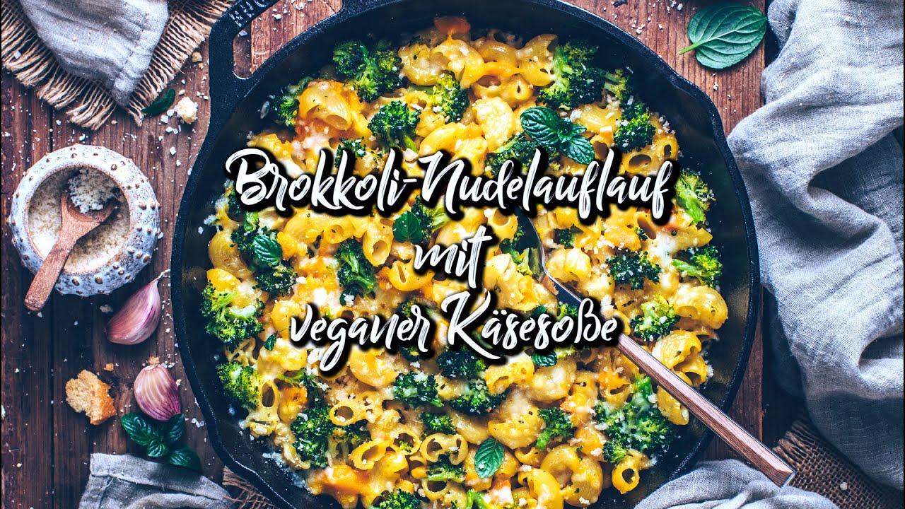 Brokkoli Nudelauflauf mit veganer Käsesoße * Rezept