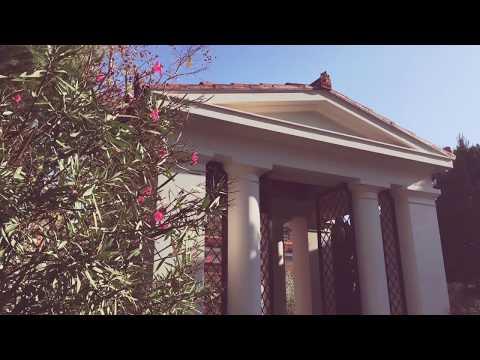 Getty Villa in Malibu footage, California
