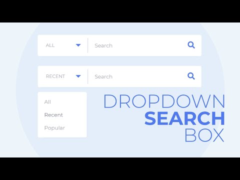 How To Create The Dropdown Search Box Using HTML CSS And Jquery   CSS Search Box