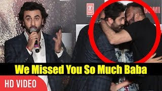 Ranbir Kapoor About Sanjay Dutt | We Missed You So Much | Bhoomi Official Trailer Launch