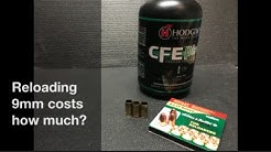 Reloading 9mm costs how much?