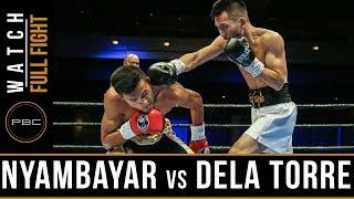 Nyambayar vs Dela Torre FULL FIGHT: November 18, 2017 - PBC on Bounce thumbnail