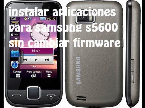 como instalar juegos y aplicaciones en el samsung s5600