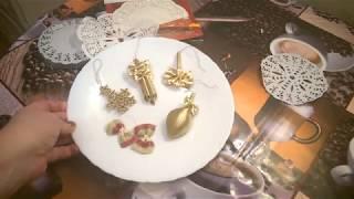 новогодние игрушки на ёлку из макарон