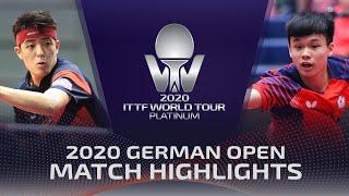 Qiu Dang Vs Feng Yi-Hsin | 2020 ITTF German Open Highlights (Pre)