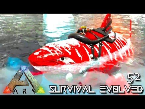 ARK: SURVIVAL EVOLVED - ALPHA MEGALODON GIANT SHARK TAMING E52 !!! ( ARK EXTINCTION CORE MODDED )
