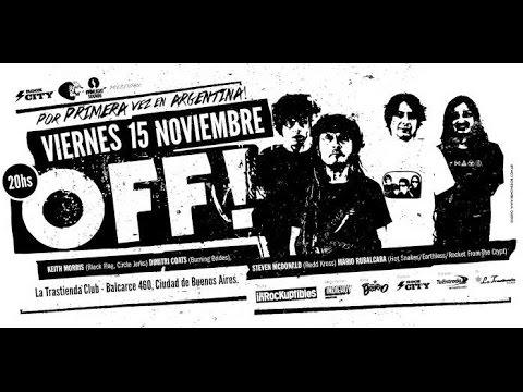 OFF! - Vivo en Argentina (La Trastienda) 15-11-2013 (HD)