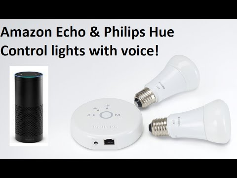amazon echo philips hue control lights with voice youtube. Black Bedroom Furniture Sets. Home Design Ideas