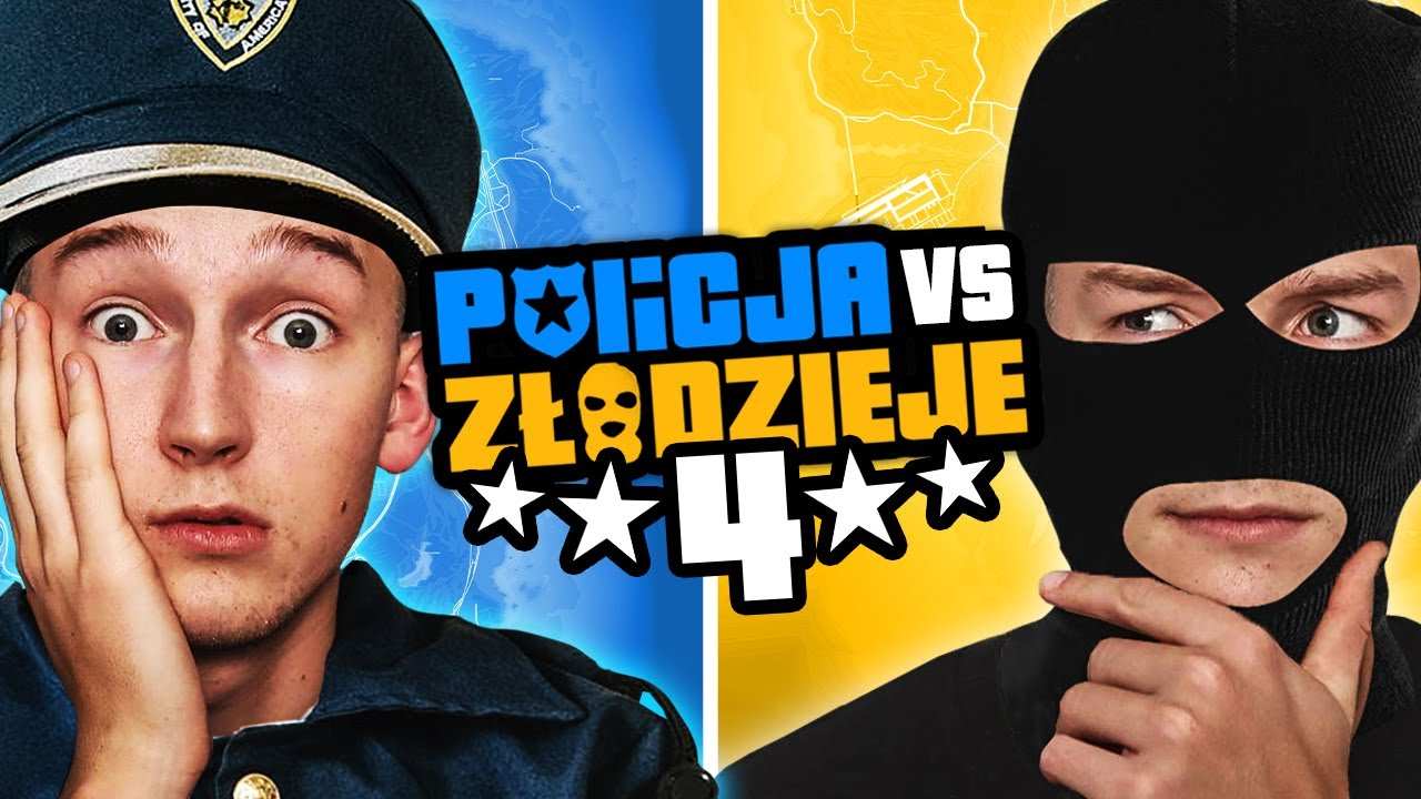 GTA V - POLICJA vs ZŁODZIEJE 4! #2 🥵