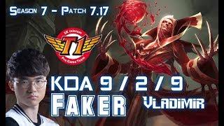 SKT T1 Faker VLADIMIR vs KASSADIN Mid - Patch 7.17 KR Ranked