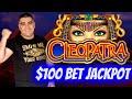$100 A Spin Cleopatra ! ✦2 HANDPAY JACKPOTS✦ On High Limit Slot Machines ! JACKPOT WINNER 2021