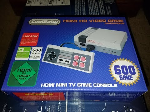 COOLBABY HD UNBOXING AND GAMEPLAY! EPIC CHINESE NES CONSOLE!