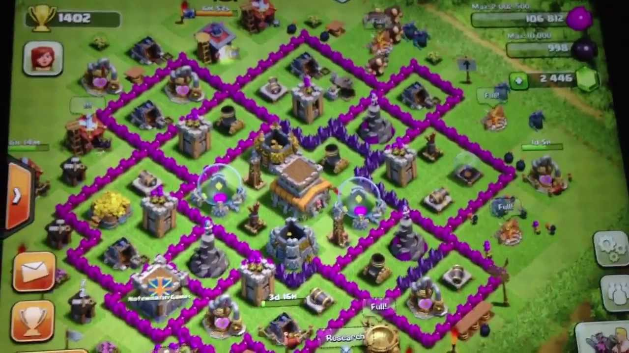 Clash Of Clans Town Hall 8 Home Village Layout