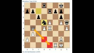 Tournament Analysis #1: IM Bartholomew vs. IM Andrew Tang (Queen's Gambit Declined)