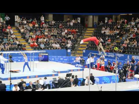Championnats d'Europe Senior 2016 - Luka van den Keybus - barre fixe (qualifications)