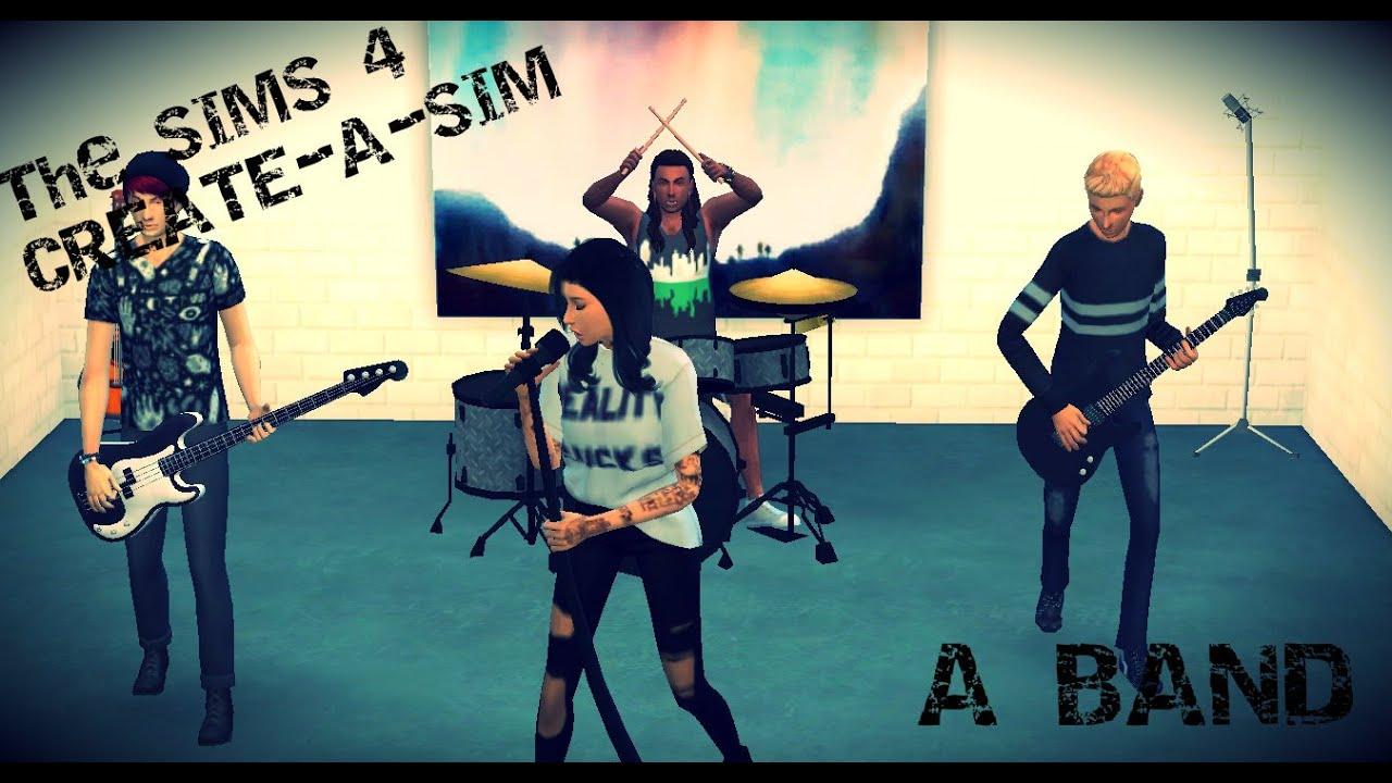 The Sims 4 - Create-A-Sim - A Band - YouTube