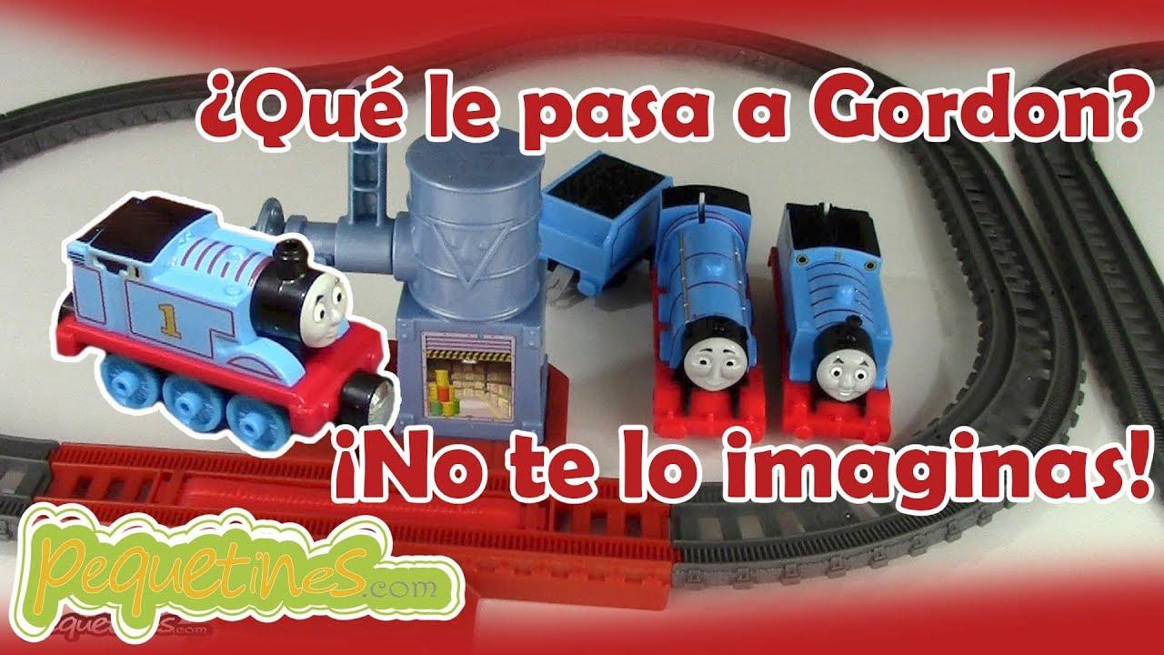 Thomas y sus Amigos - Gordon se queda sin agua en el circuito de ...