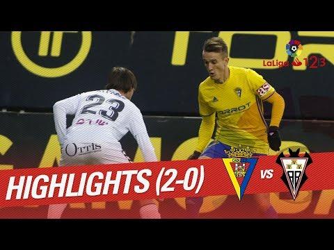 Resumen de Cádiz CF vs Albacete Balompié (2-0)