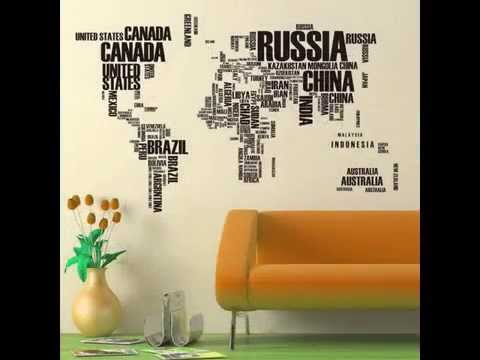 Hot word world map quote removable vinyl decal wall stickers mural hot word world map quote removable vinyl decal wall stickers mural home decor gumiabroncs Image collections