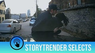 Man saves woman from being hit by car