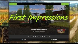 Modhoster.com - https://www.modhoster.com/mods/great-country  Hi this is my first map for the LS 17. Great Country has 21 fields from 2.5 ha to 23.5 ha, one of which is already in your possession. It is chopped straw installed. Now a small listing of the