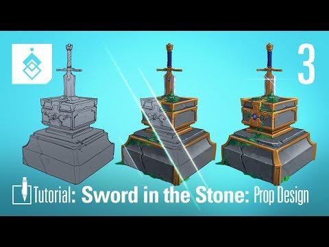 Tutorial: Concept Art: Sword in the Stone Prop – Episode 3