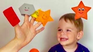 Learn colors and shapes with Egor. Circle triangle and square for kids