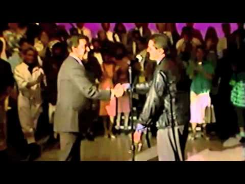 Falco performing Rock Me Amadeus and Vienna Calling on American Bandstand 1986