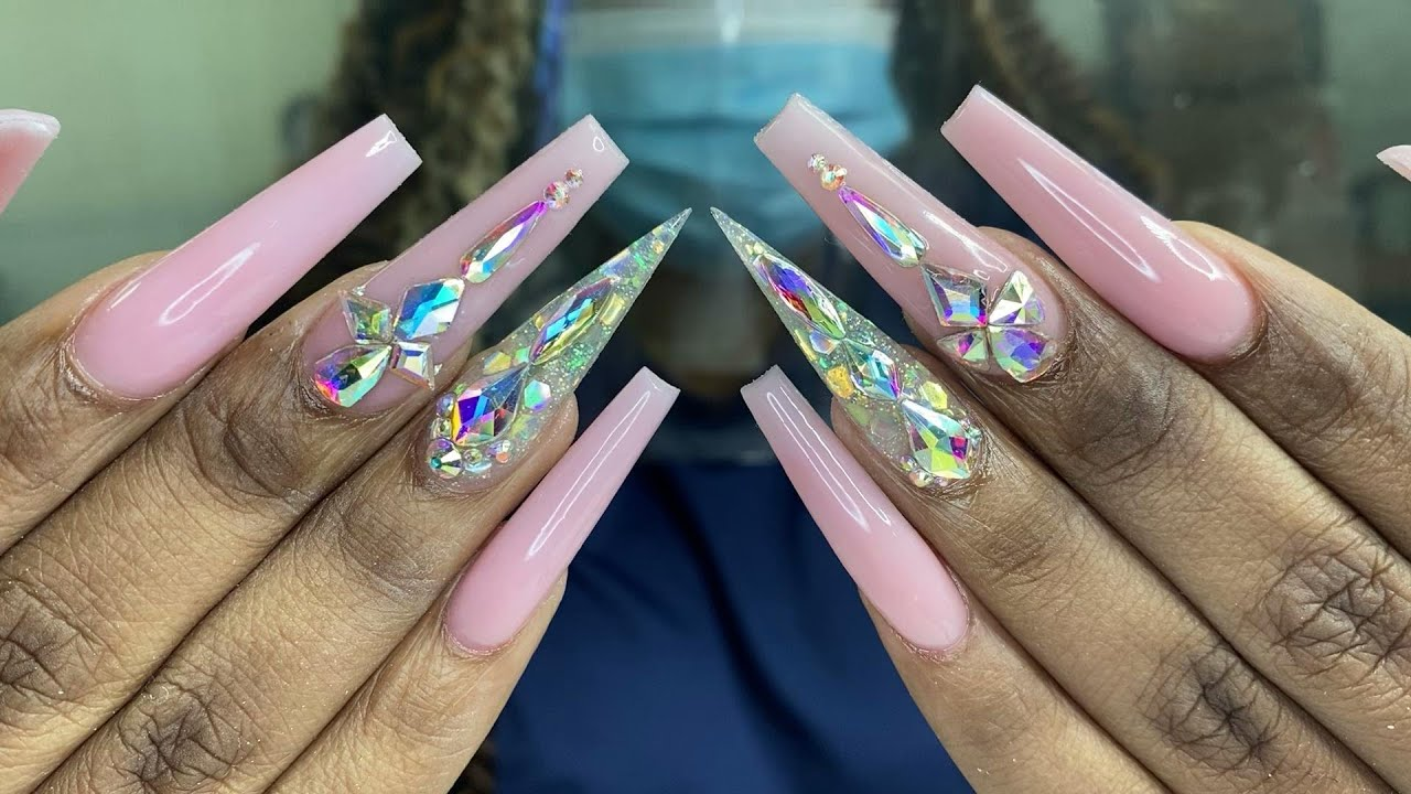 Download Acrylic Long Coffin Shape   Nails Tutorial   #53