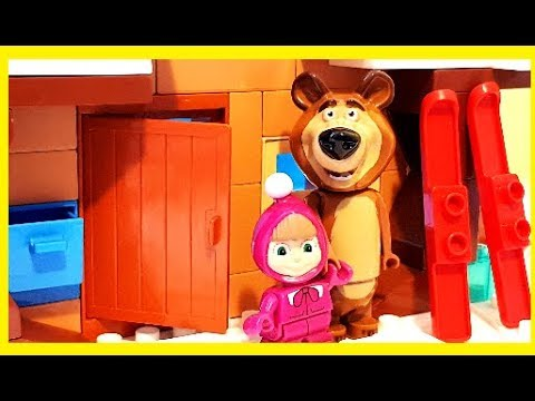 masha and the bear winter house. Black Bedroom Furniture Sets. Home Design Ideas