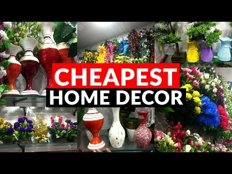 Wholesale/Retail Market of Artificial Flowers | Cheapest Home Decor- Plants, Pots | Sadar Bazar