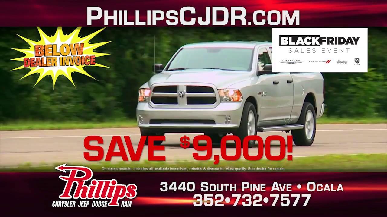 black friday sales event at phillips chrysler jeep dodge. Black Bedroom Furniture Sets. Home Design Ideas