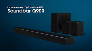 SAMSUNG SOUNDBAR HW-Q90R DOLBY ATMOS dtsX HARMAN KARDON 7.1.4 CH 512W - NEW