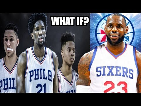 WHATS IF LEBRON JAMES SIGNS WITH THE PHILADELPHIA 76ERS? TRUST THE PROCESS! NBA 2K17 MY LEAGUE
